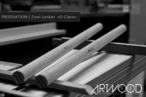 Holz Fahrradlenker »O Claro« von Art-WooD in der Produktion