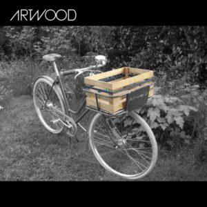 Fahrradkiste - Anwendungsbeispiel auf Gepäckträger vorne