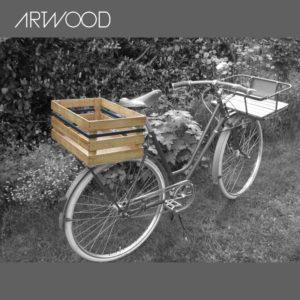 Fahrradkiste - Anwendungsbeispiel auf einem Gepäckträger hinten