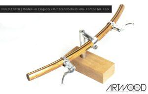 Holzlenker Modell »Wilhelm« mit Bremshebeln »Dia-Compe MX-122«