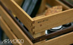 Gepäckträger Kiste aus Holz »Kosima«
