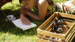 Kosima Fahrradkiste beim Picknick