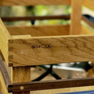 Kosima Holz Fahrradkiste Detail Ecke