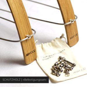 Schutzblech »Selma« aus Holz mit Befestigungsset und Schutzblechstreben in Edelstahl | Art-WooD