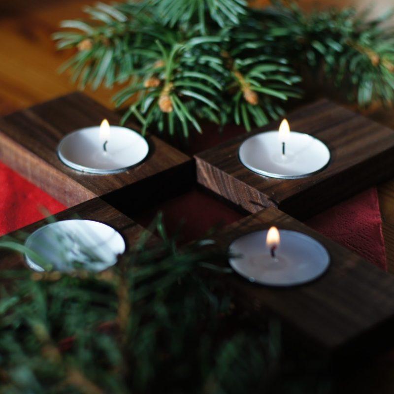 Teelichthalter Frieda als Adventskranz