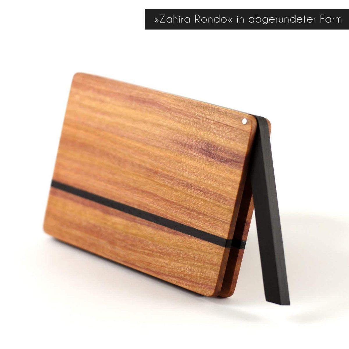 Visitenkartenetui »Zahira Rondo« in abgerundeter Form