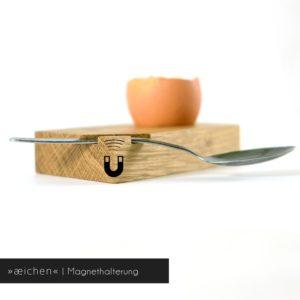 Eierbecher »æichen« mit Magnethalterung für den Löffel