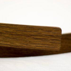 Fahrrad Holz Schutzblech »Simon« aus Eiche. Detail der Holzstruktur.
