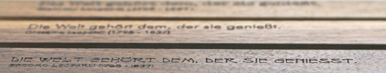Lasergravur Schriftarten Auswahl für Visitenkartenetui Akemi