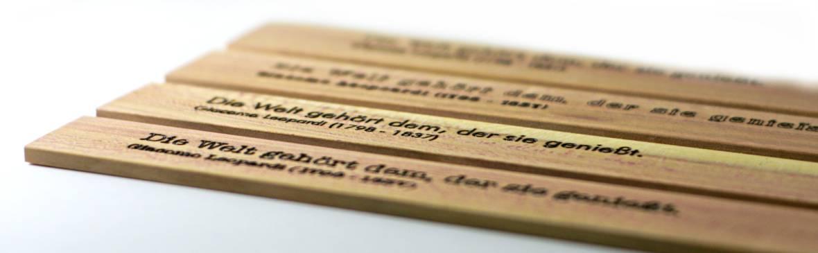 Namensgravur Schriftarten Auswahlt