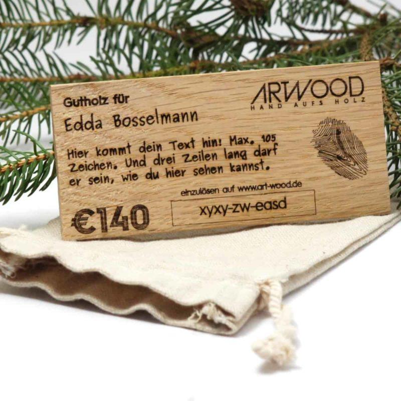 Geschenkgutschein »Gutholz« aus Holz von ARTWOOD