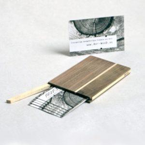 Holzetui Visitenkarten Modell »Akemi« Oberfläche naturbelassen