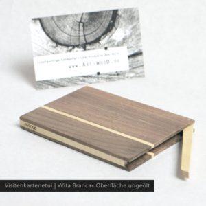 Holz Visitenkartenetui »Akemi« Oberfläche naturbelassen
