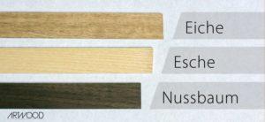 Holzsorten Eiche Esche Nussbaum für Fahrradlenker aus Holz von Art-WooD