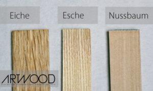 Holzarten für Fahrrad Holzlenker von Art-WooD