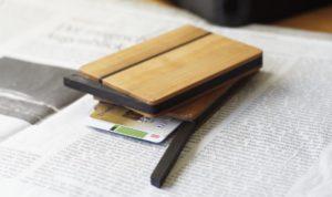 Kreditkartenetui Visitenkartenetui aus Birnenholz in den Formen kantig und abgerundet