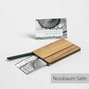 Visitenkartenetui in Nussbaum satin von Art-WooD