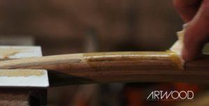 Oberflaechenhandlung des Fahrradlenkers aus Holz von Art-WooD