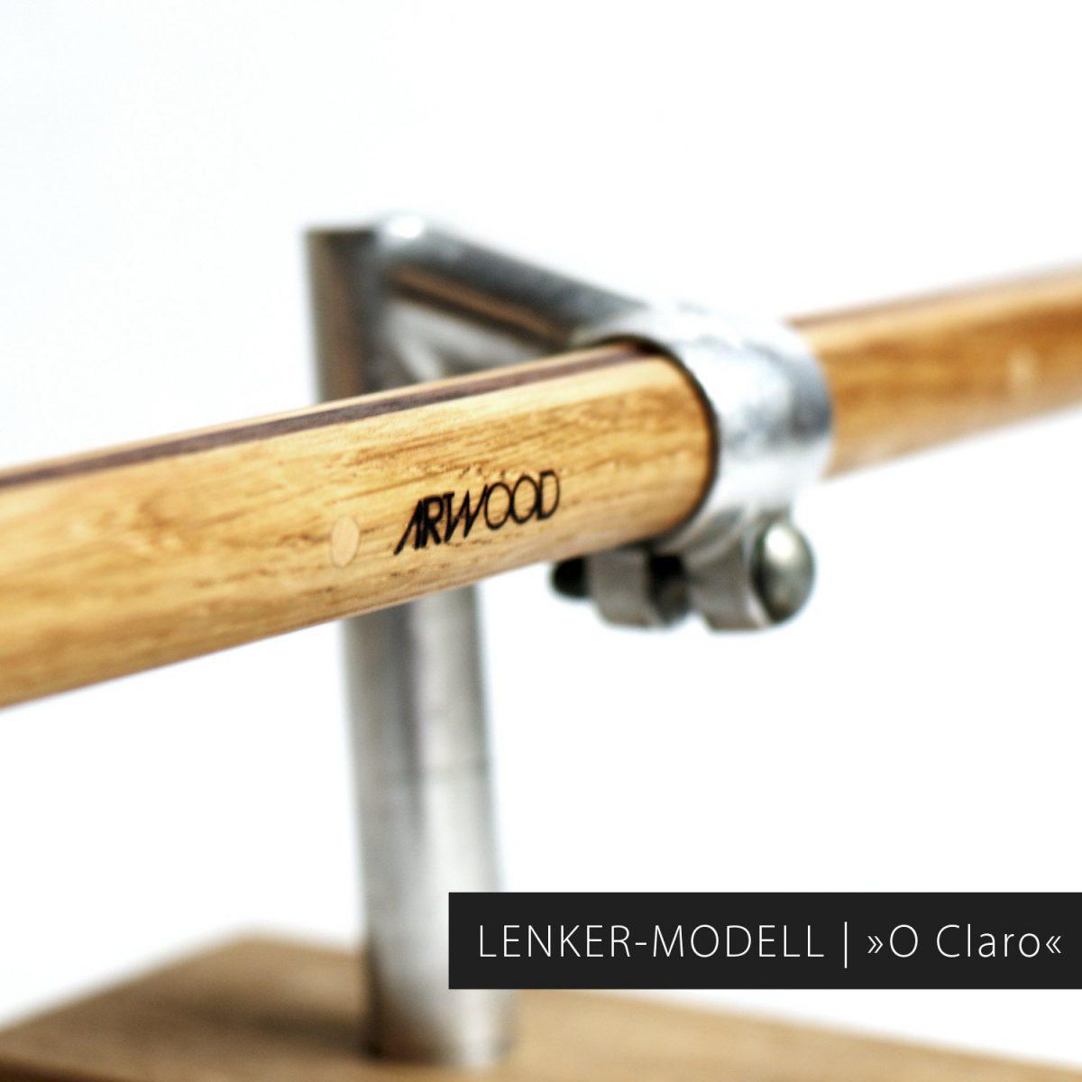 Holz Fahrradlenker gerade Form »Konstantin« für dein Fixie-Bike von Art-WooD