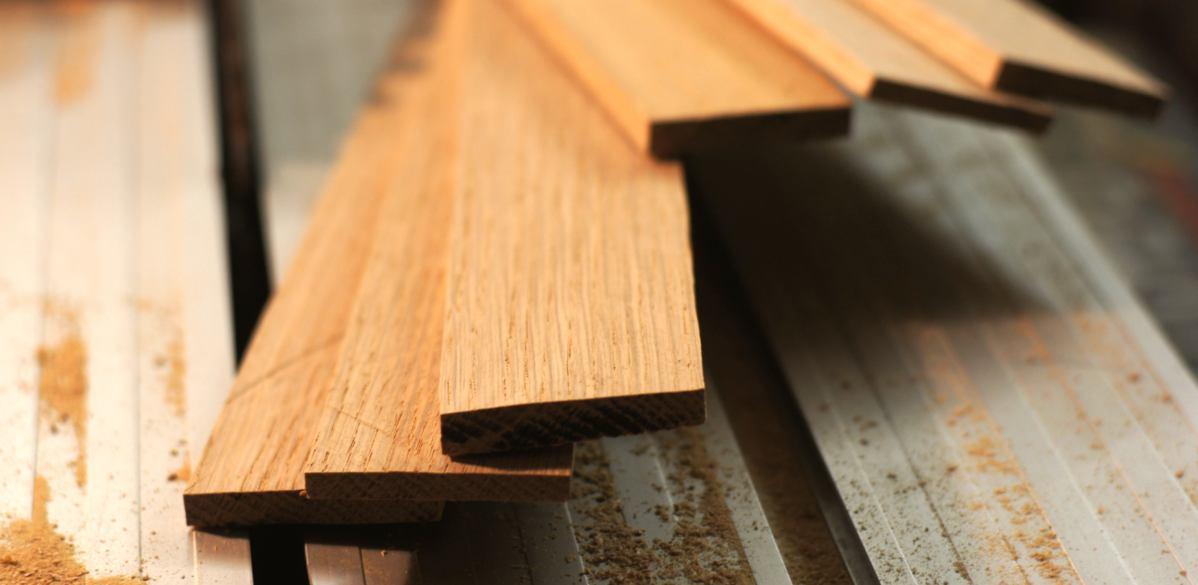 Holzschutzblech in der Werkstatt