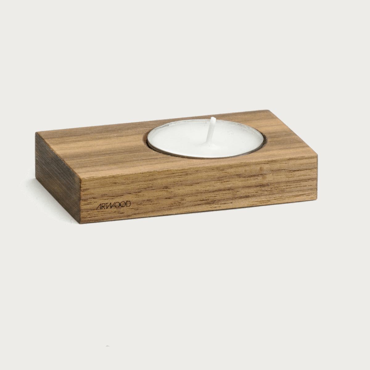 Teelichthalter aus Nussbaumholz von ArtWooD