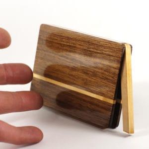 Visitenkartenetui »Akemi rondo« mit Schellack Oberfläche
