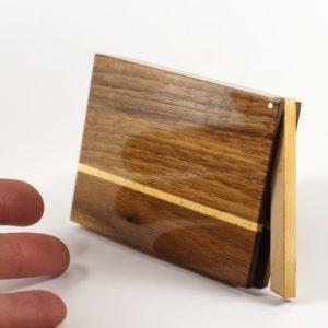 Visitenkartenetui »Akemi« mit Schellack Oberfläche