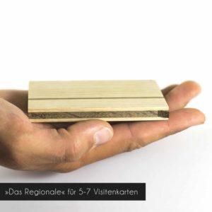 Holz Visitenkartenetui »Sophie«, Fassungsverögen ca. 5-7 Visitenkarten