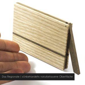 Holz Visitenkartenetui »Das Regionale« mit naturbelassener Oberfläche