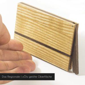 Holz Visitenkartenetui »Sophie« mit seidenmatter geölter Oberfläche (empfohlen)