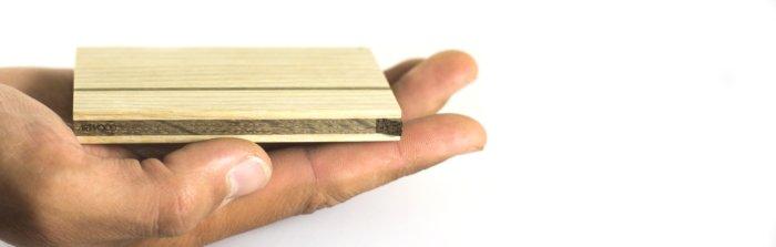 Handgefertigtes Visitenkartenetui aus Holz