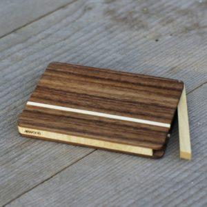 Holz Visitenkartenetui Modell »Akemi rondo«