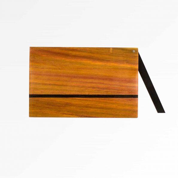 Holz Visitenkartenetui Design »Zahira« aus farblich sehr abwechlungsreichen Zwetschgenholz