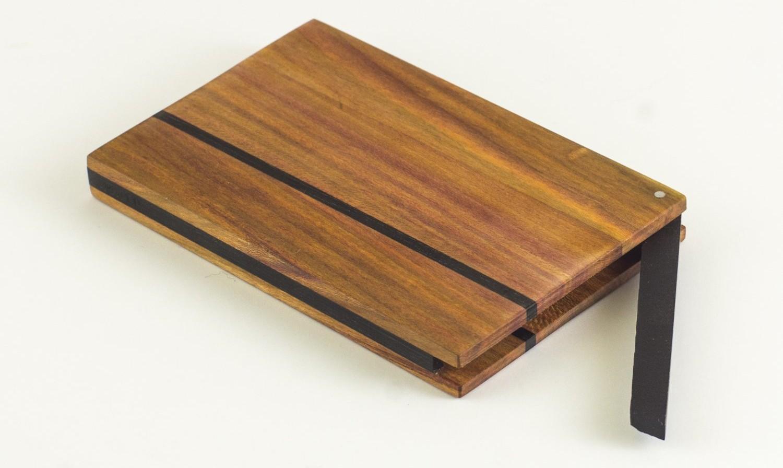 Visitenkartenetui, Visitenkartenbox aus Zwetschgenholz