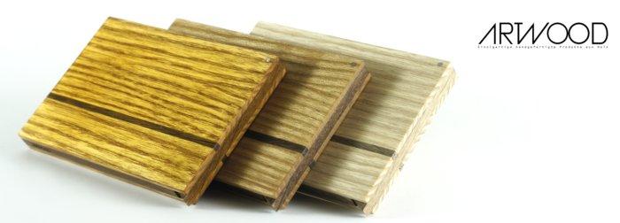 Visitenkarten Etui aus Holz mit geölter, naturbelassener und Schellack Oberfläche