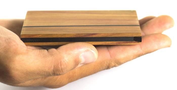 Holz Visitenkartenetui Zahira für 12 Visitenkarten